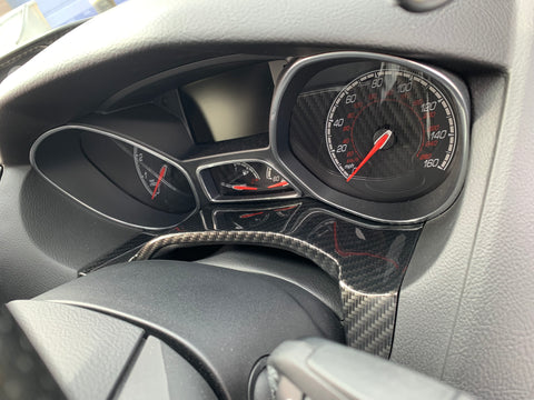 Main Gauge Pod Trim Carbon Fibre - Mk3/3.5 Focus