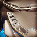 Interior Front Door Handle Trims Carbon Hydrodip - Mk3/3.5 Ford Focus