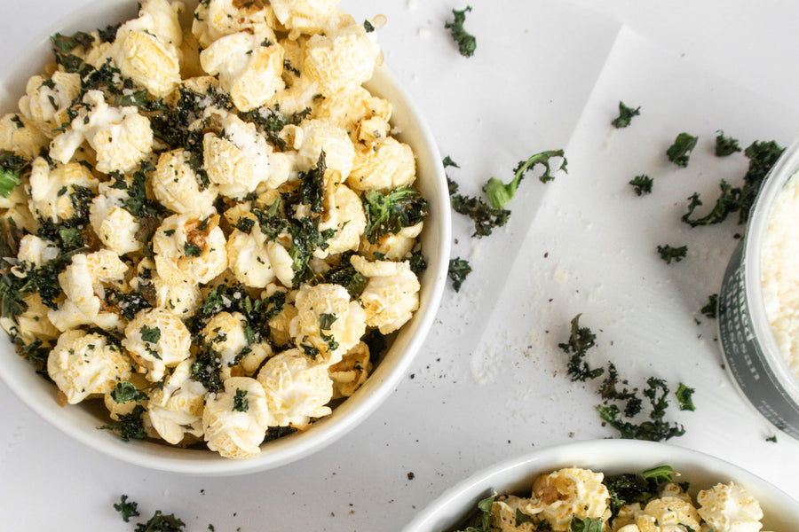 4-Ingredient Parmesan Kale Popcorn Recipe