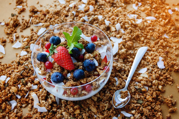 bowl of granola and fruit