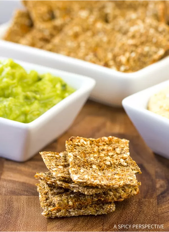 low carb cauliflower crackers