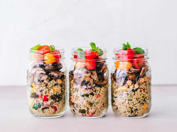 meal prep glass jars