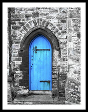 Load image into Gallery viewer, A Blue Church Door Penzance Cornwall  - Framed Print - RW Jemmett