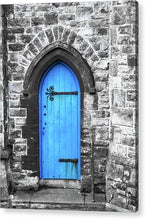 Load image into Gallery viewer, A Blue Church Door Penzance Cornwall  - Acrylic Print - RW Jemmett