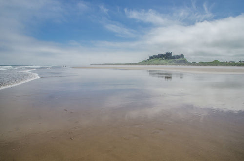 Bamburgh Castle and Beach - Northumberland, Landscape, C-Type - RW Jemmett