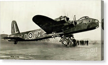 Load image into Gallery viewer, British Short Stirling Raf Heavy Bomber - Canvas Print - RW Jemmett