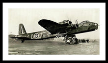 Load image into Gallery viewer, British Short Stirling Raf Heavy Bomber - Framed Print - RW Jemmett