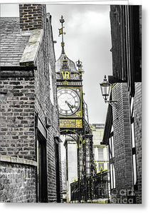 Chester City Clock, Chester, England. - Greeting Card - RW Jemmett