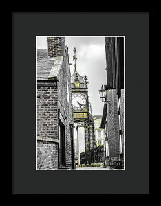Chester City Clock, Chester, England. - Framed Print - RW Jemmett
