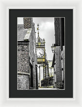 Load image into Gallery viewer, Chester City Clock, Chester, England. - Framed Print - RW Jemmett