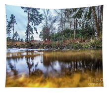 Load image into Gallery viewer, View Across Water And Under Water To Forest Scene - Tapestry - RW Jemmett