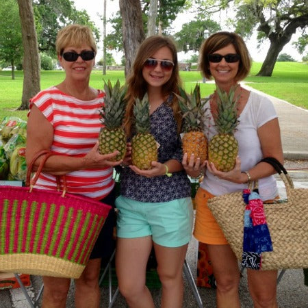 The Posh Pineapple owner with family