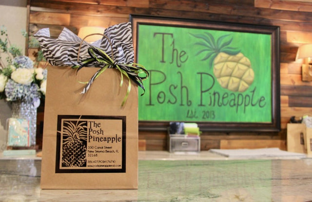 The Posh Pineapple store counter