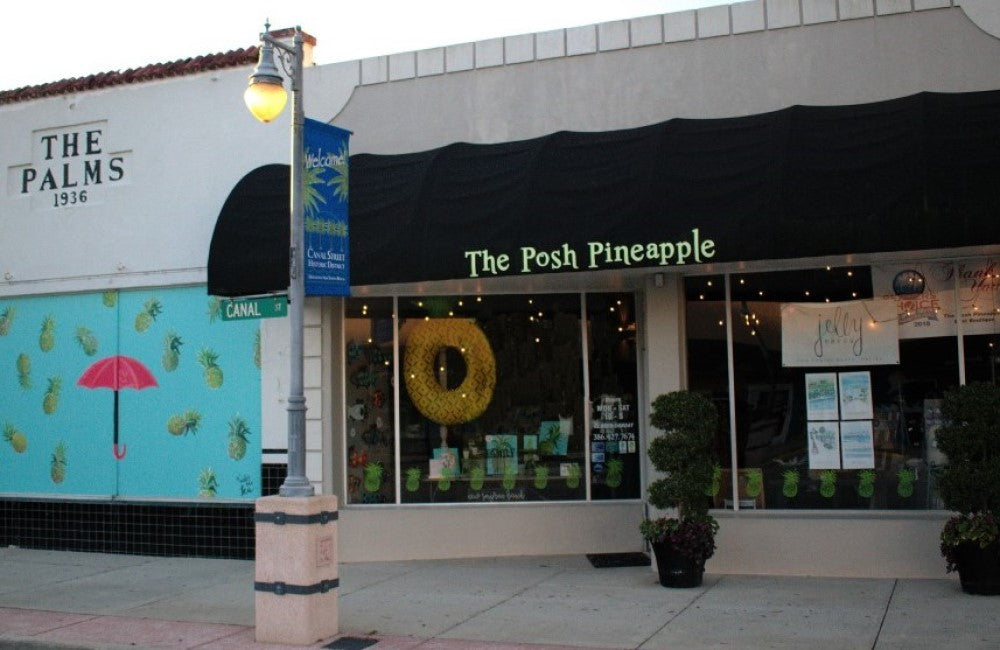 The Posh Pineapple store front
