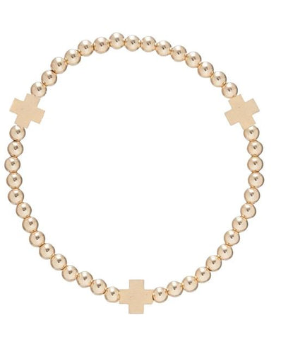 Signature Gold Cross Bracelet