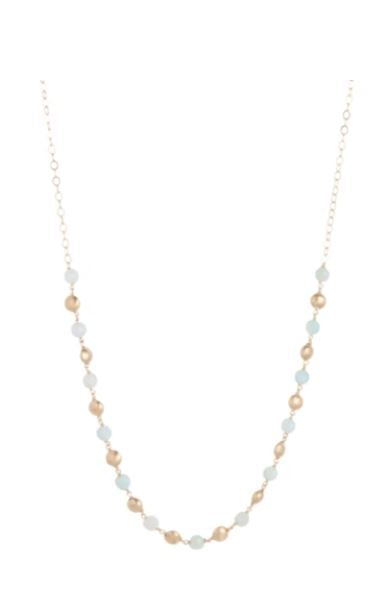 "28.5"" Honesty Gold Primo Necklace Turquoise Agate"