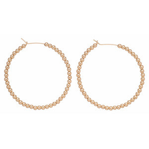 Enewton Gold Beaded Hoop Earrings