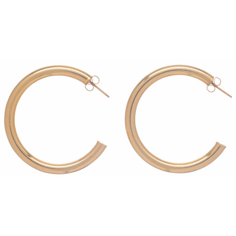 Enewton Round Gold Hoop Earrings