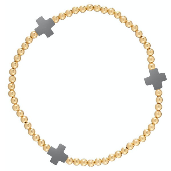 Extends Signature Cross Bracelet