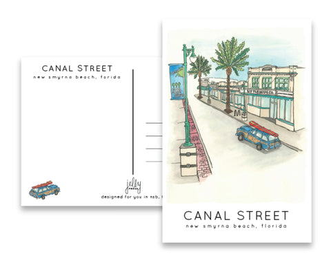 Jelly Press Canal Street postcard