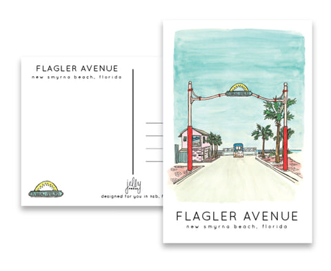 Jelly Press Flagler Avenue postcard