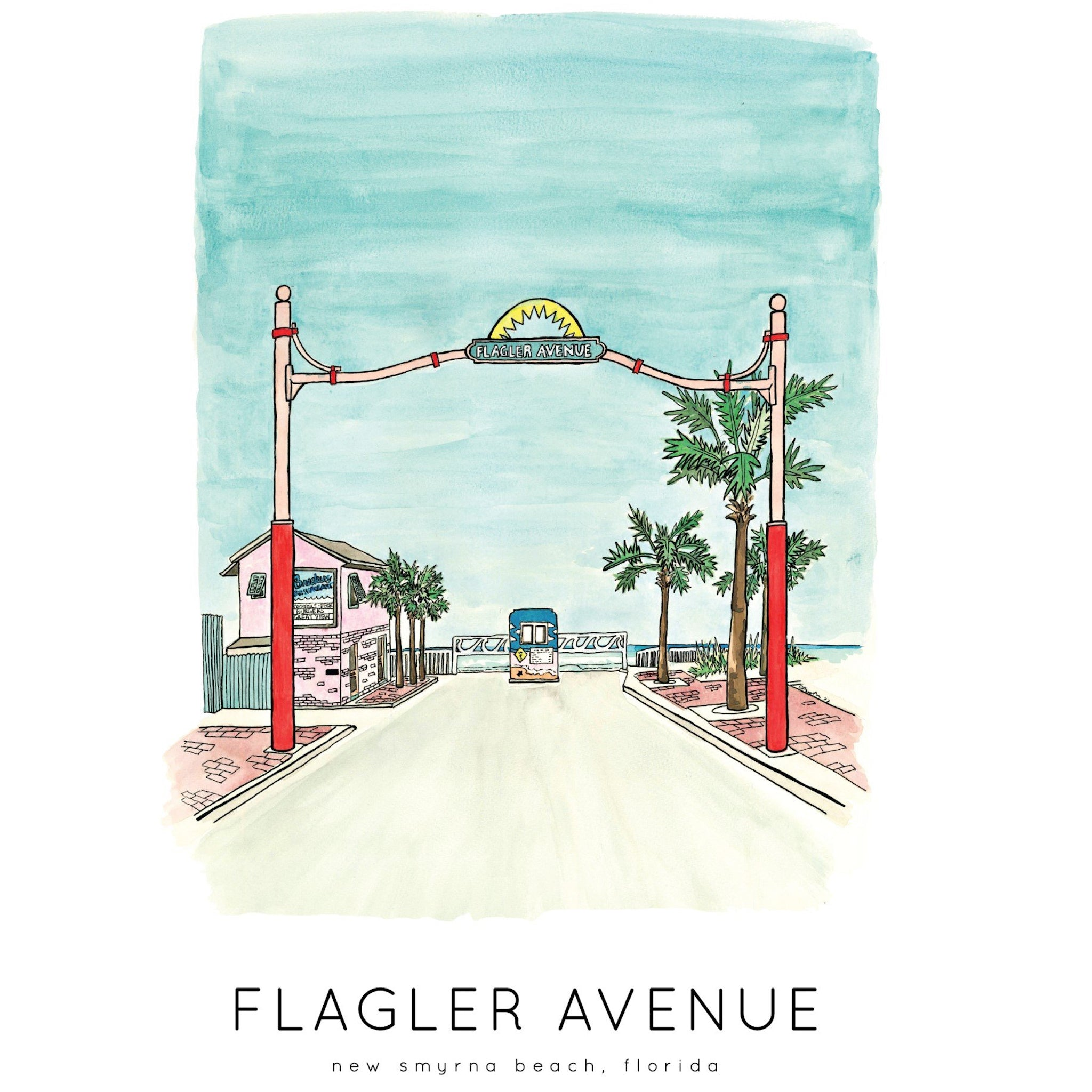 Jelly Press Flagler Avenue print