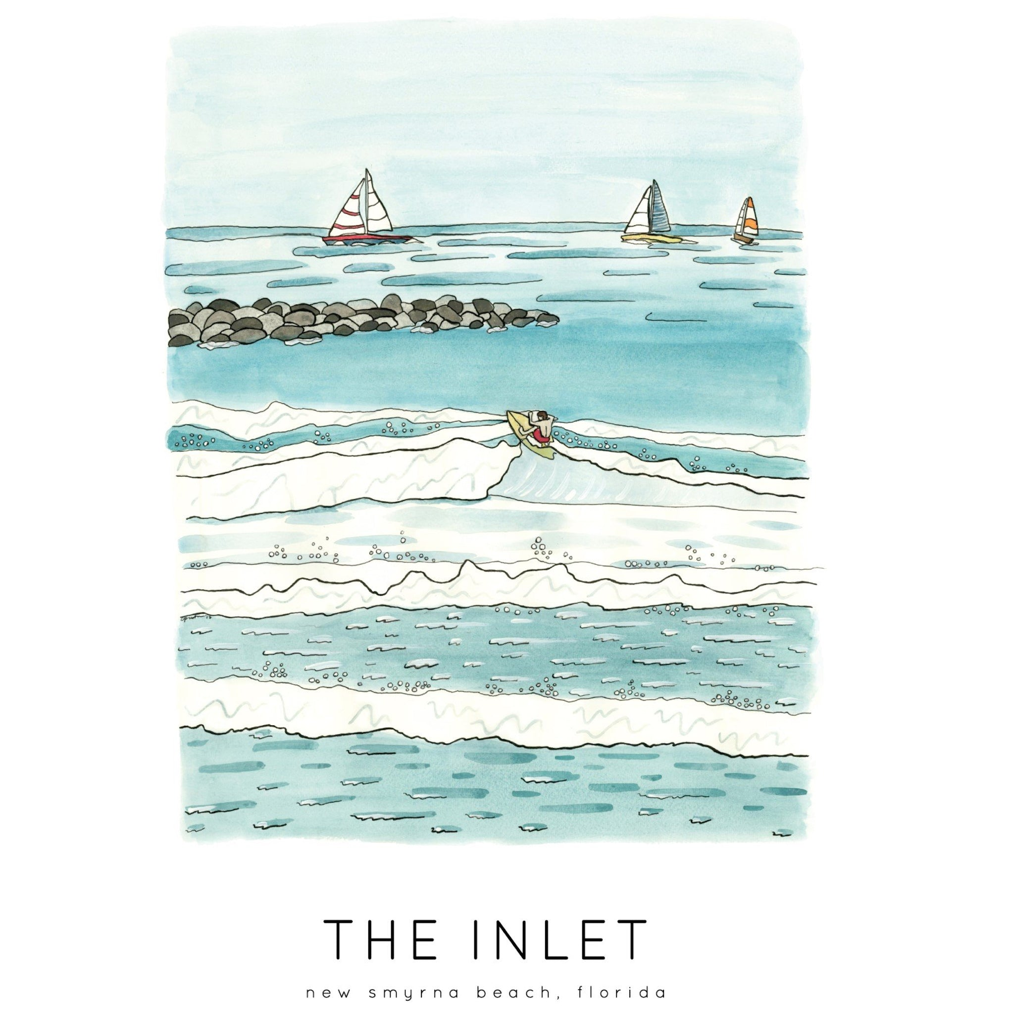 Jelly Press The Inlet Print