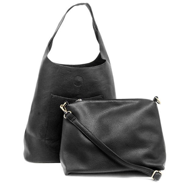 Joy Susan Molly Slouchy Hobo Bag Black