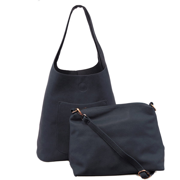 Joy Susan Molly Slouchy Hobo Bag Navy