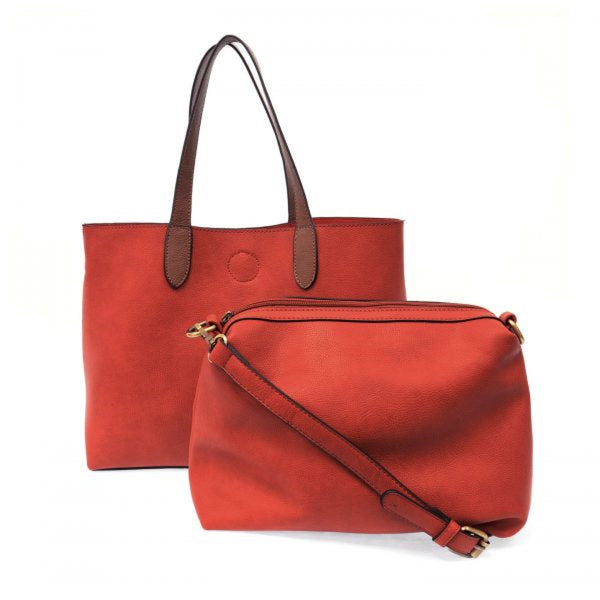 Joy Susan Mariah Tote Bag red coffee front 2 in 1