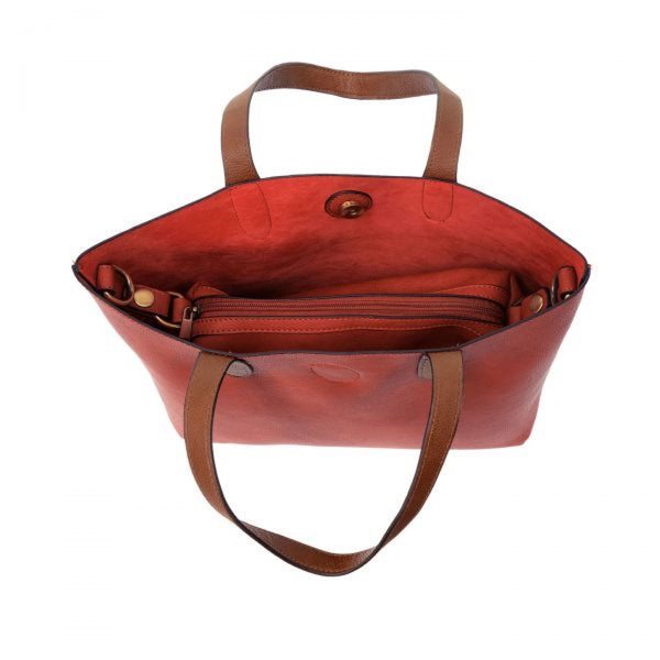 Joy Susan Mariah Tote Bag red coffee inside