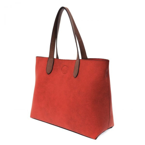 Joy Susan Mariah Tote Bag red coffee side