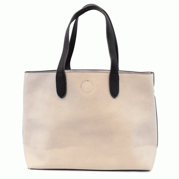 Joy Susan Mariah Tote Bag stone black front