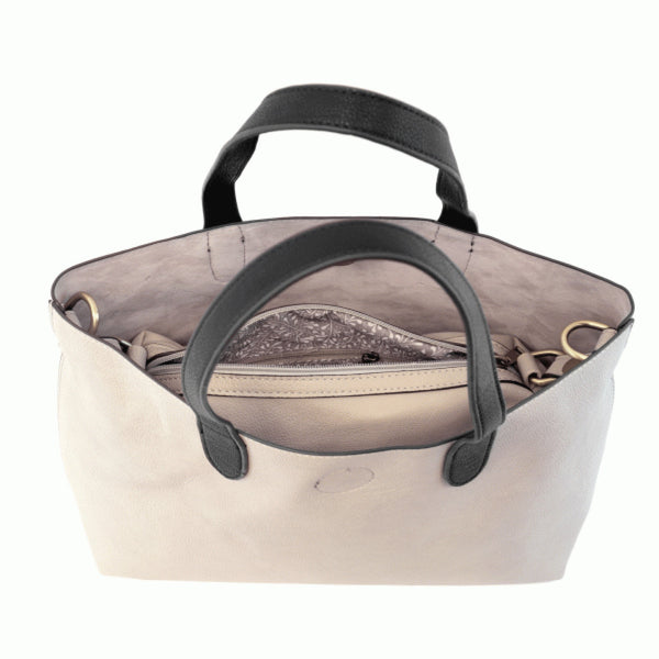 Joy Susan Mariah Tote Bag stone black inside