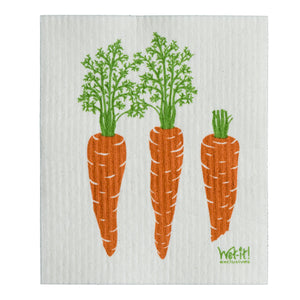 Wet It Cloth Carrots By A Row