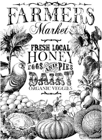 "IOD Farmer's Market Paintable Decor Transfer 24"" x 33"""