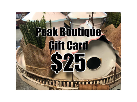 Gift Card $25 (in store)