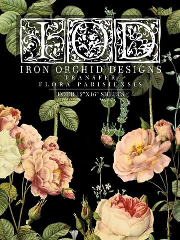 IOD Flora Parisiennes Decor Transfer 4 12x16 sheets