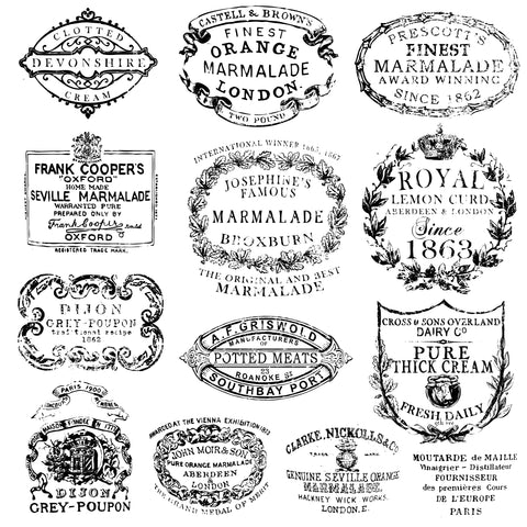 "IOD Crockery Decor Stamps 12"" x 12"""