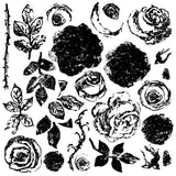 "IOD Painterly Roses Decor Stamps 12"" x 12"""