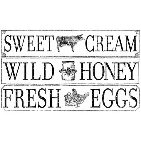 "IOD Farm Fresh Signage Decor Transfer 14.25"" x 24"""