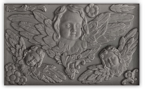 "IOD Classical Cherubs Decor Mould 10"" x 6"""