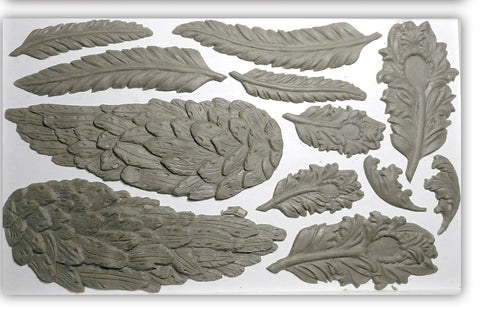 "IOD Wings and Feathers Decor Mould 10"" x 6"""