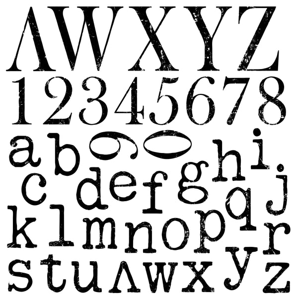 "IOD Typesetting Decor Stamps 12"" x 12"""
