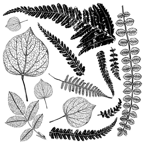 "IOD Fronds Decor Stamps 12"" x 12"""