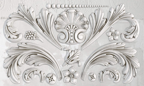 "IOD Acanthus Scroll Decor Mould 10"" x 6"""