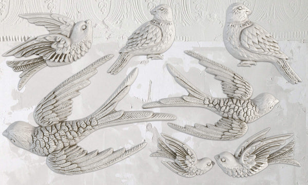 "IOD Bird Song Decor Mould 10"" x 6"""