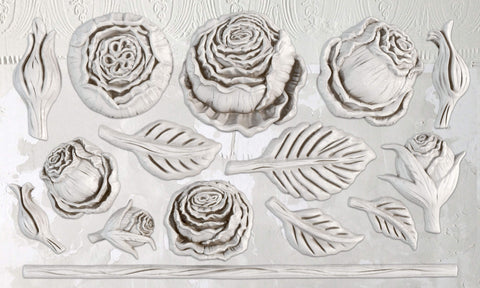 "IOD Heirloom Roses Decor Mould 10"" x 6"""