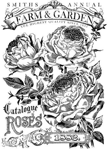 "IOD Catalogue of Roses Decor Transfer 24"" x 33"""