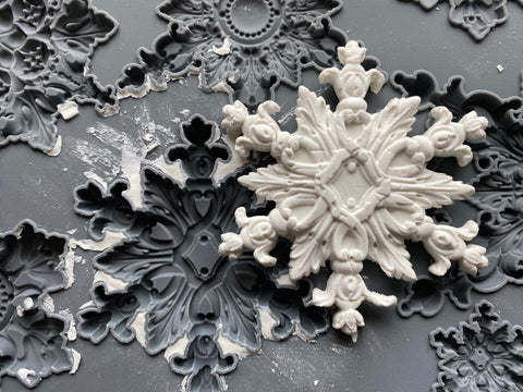 "IOD Snowflakes Mould 10"" x 6"""
